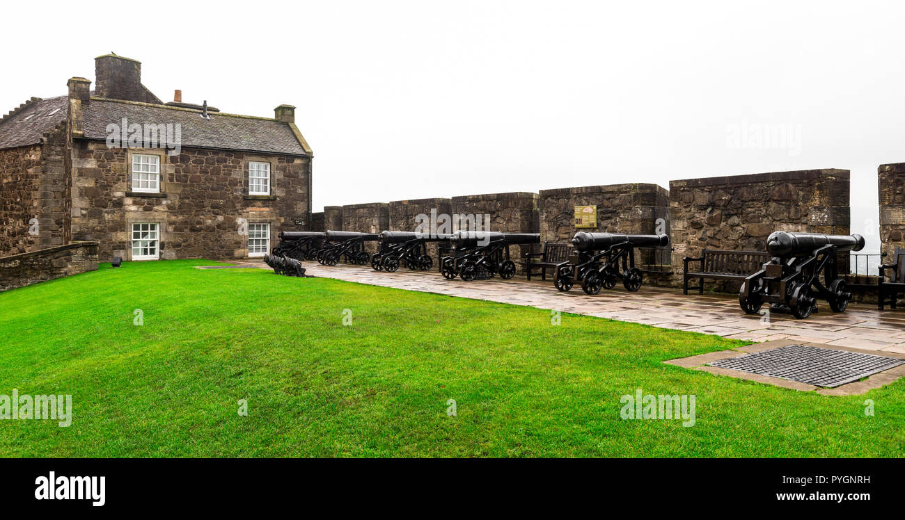 The Grand Battery defending Stirling Castle from outside dangers and enemies in Middle Ages, Scotland - Stock Image