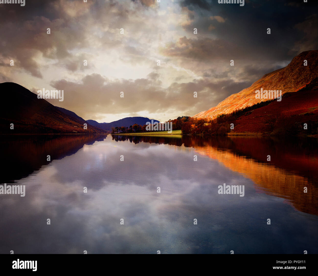GB - CUMBRIA: Buttermere in the Lake District National Park Stock Photo