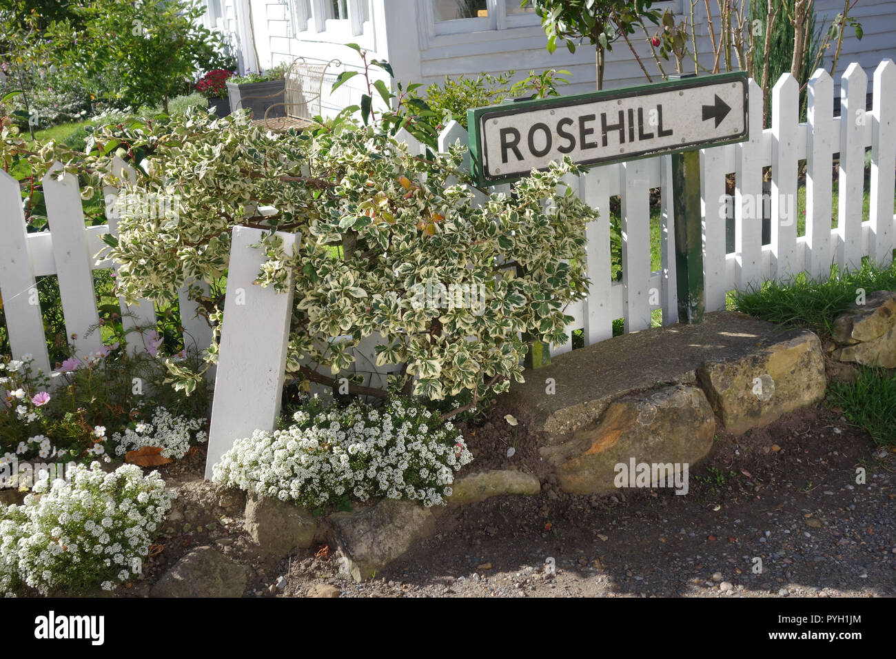 sign to Rosehill cottage, Ticehurst, East Sussex, Unmited Kingdom - Stock Image