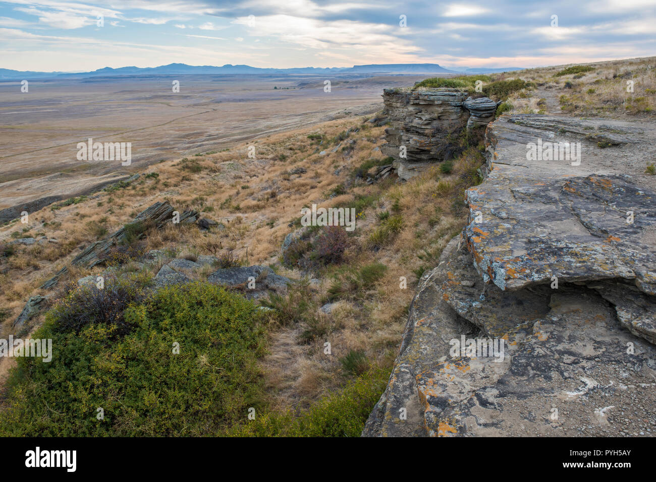 Buffalo Jump, First Peoples Buffalo Jump SP, Montana, by Bruce Montagne/Dembinsky Photo Assoc - Stock Image