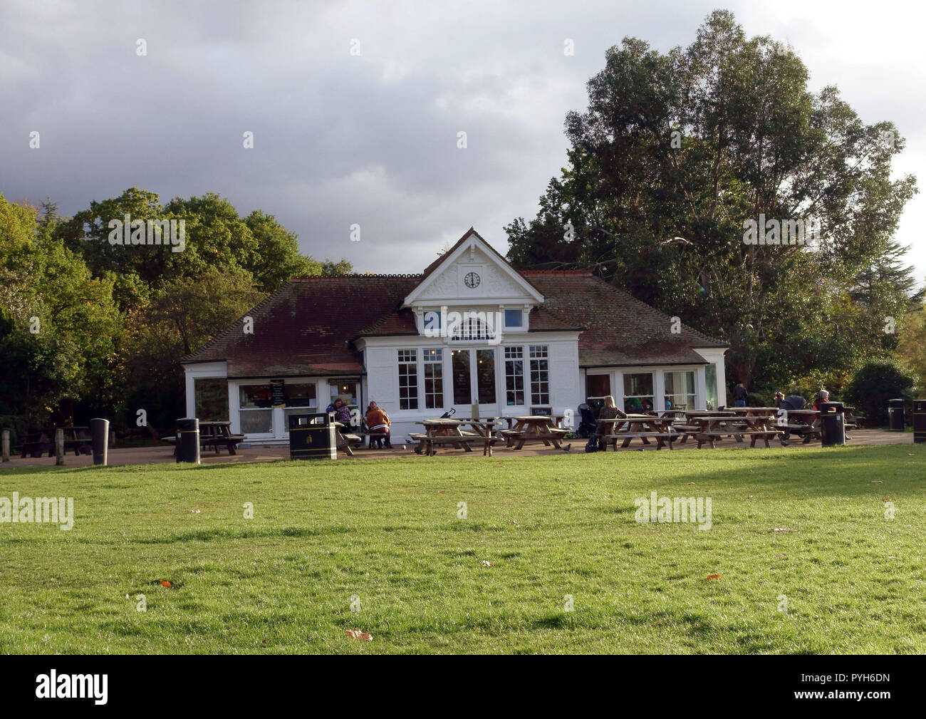 The Clock Cafe in Dulwich Park, South East London Stock Photo