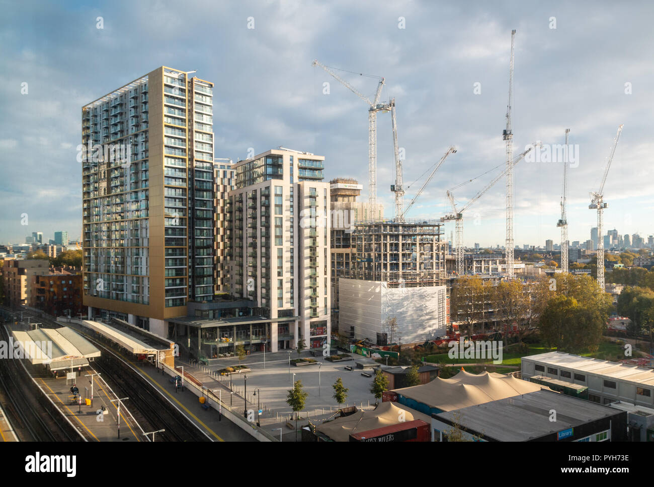 Part of the regeneration of Elephant and Castle, London - Stock Image