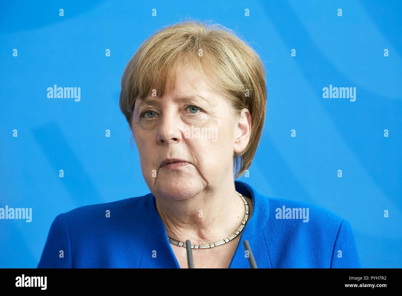 Berlin, Germany - Chancellor Angela Merkel. - Stock Image
