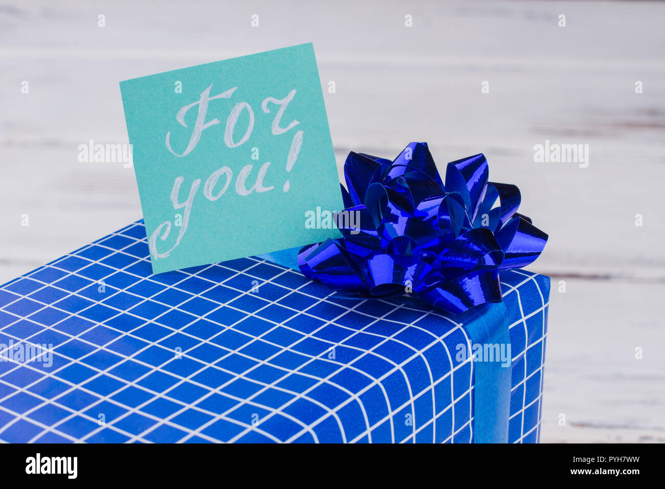 Gift Box And Card With Inscription For You Beautiful Gift Box On