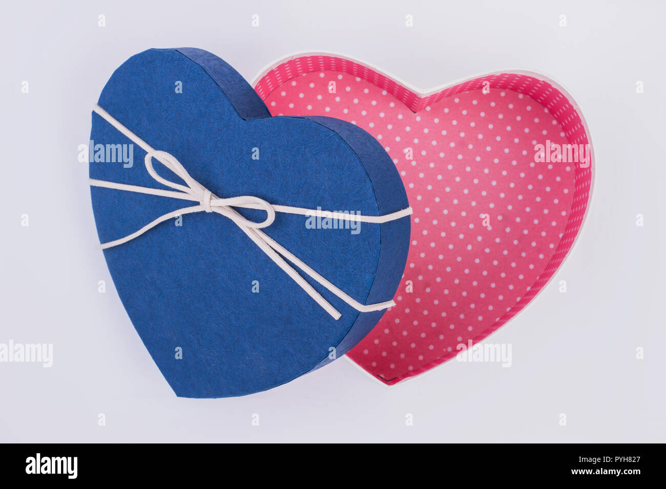 Blank Heart Shaped Gift Box Open Present Box In A Form Of Heart