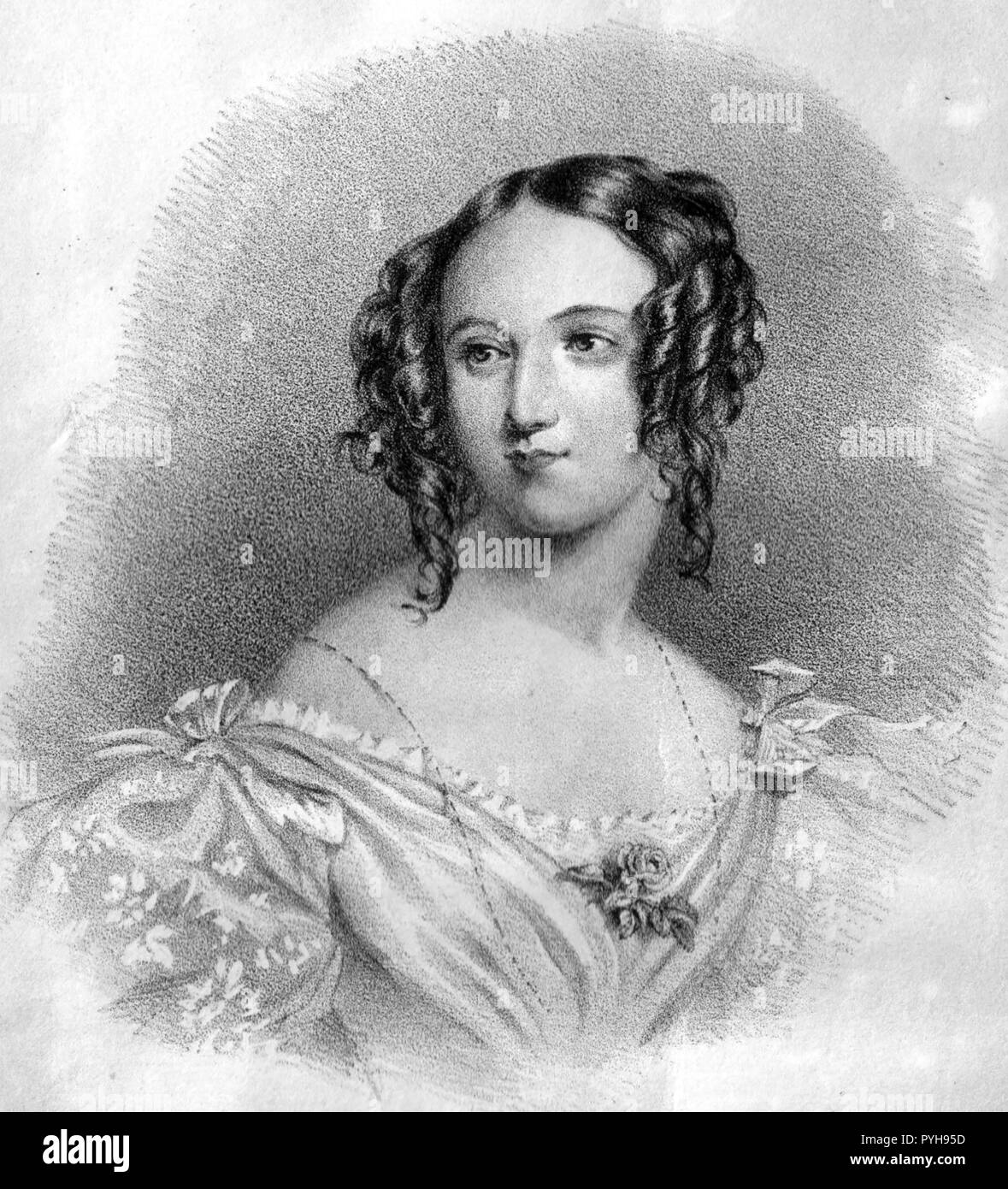 FLORA HASTINGS (1806-1839) English aristocrat - Stock Image