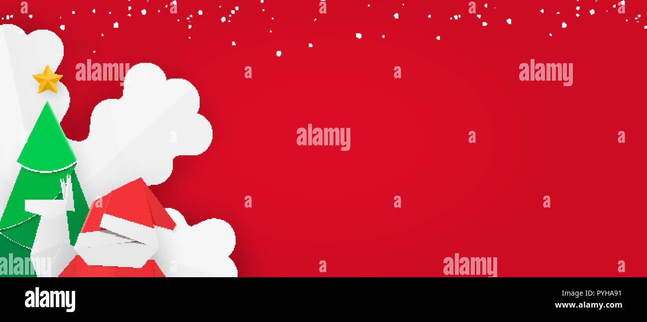 Christmas Leaflet Background.Winter Banner Template With Snow For Web Christmas Leaflet