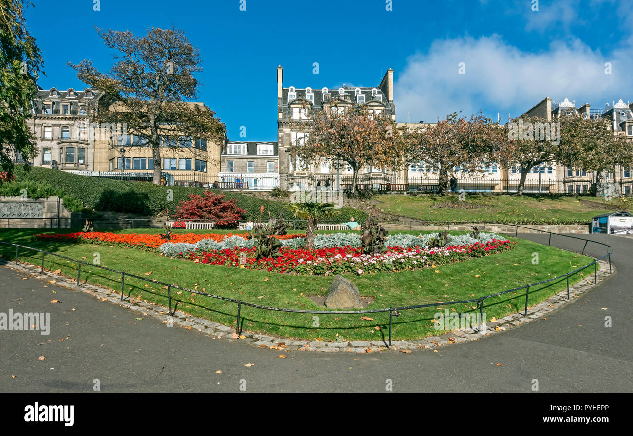 Princes Street Gardens Edinburgh Scotland UK - Stock Image