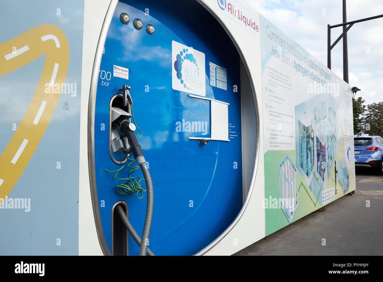 Paris, Ile-de-France, France - A hydrogen filling station in