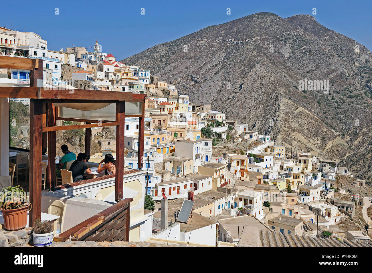 Greece, Karpathos mountain village Olympos Stock Photo