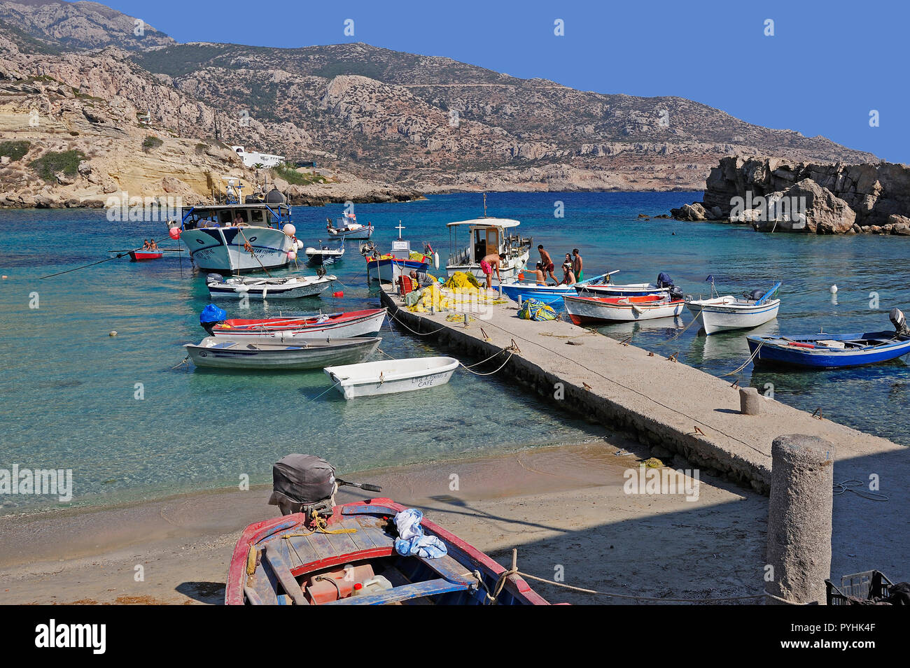 Greece, Karpathos coastal resort Lefkos Stock Photo