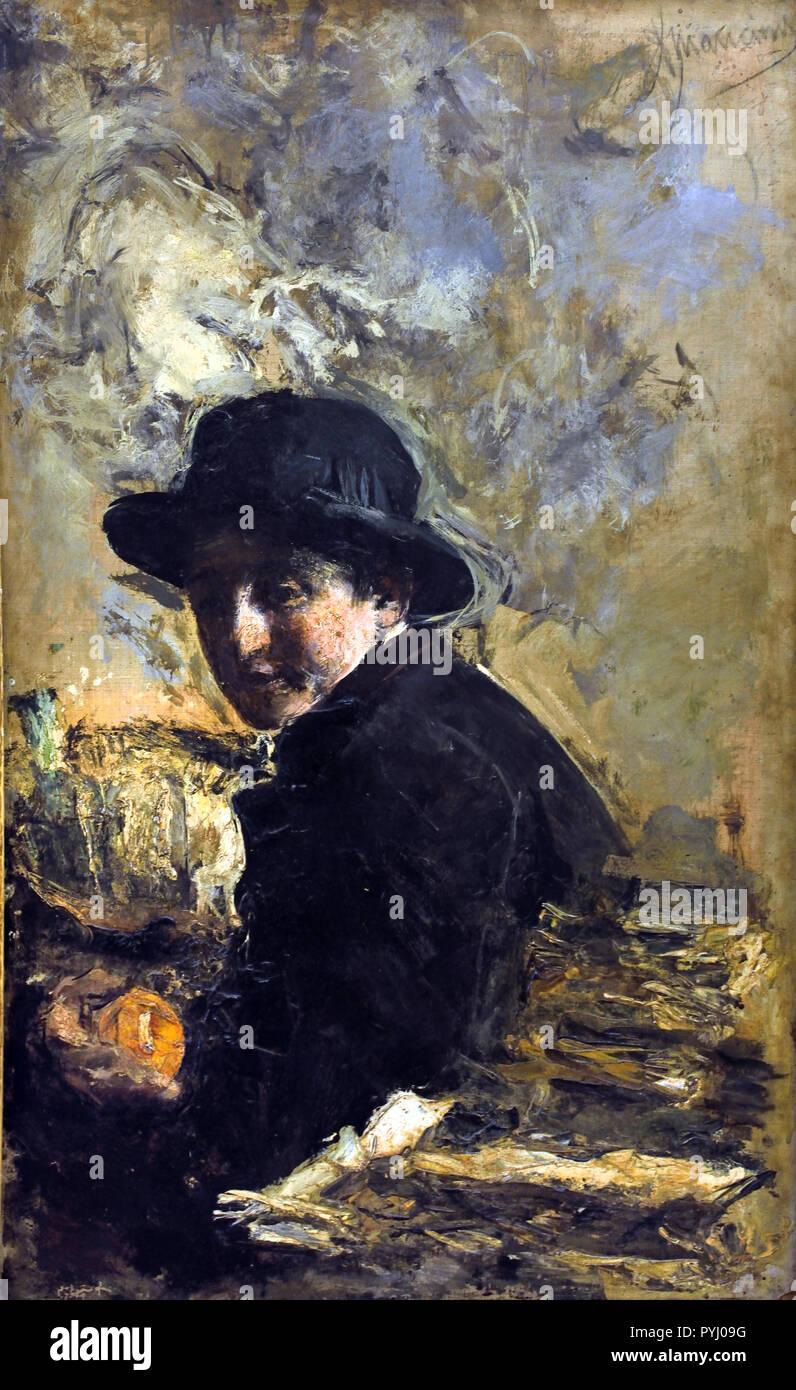 Ragazzi - Boys, 1875-1883 Antonio Mancini 1852-1930 Italy Italian - Stock Image