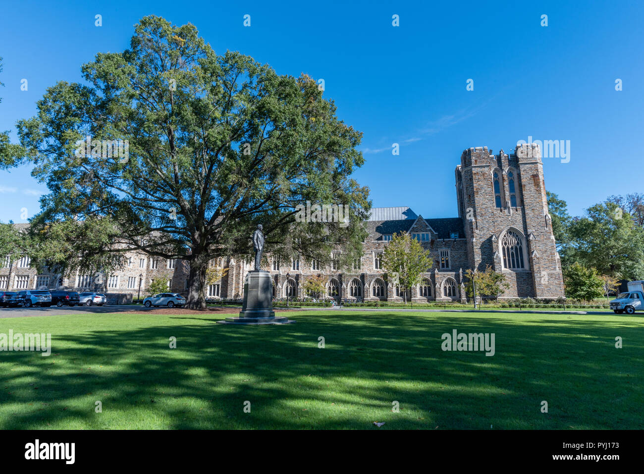 Abele Quad at the Duke University in early autumn, Durham, North Carolina - Stock Image