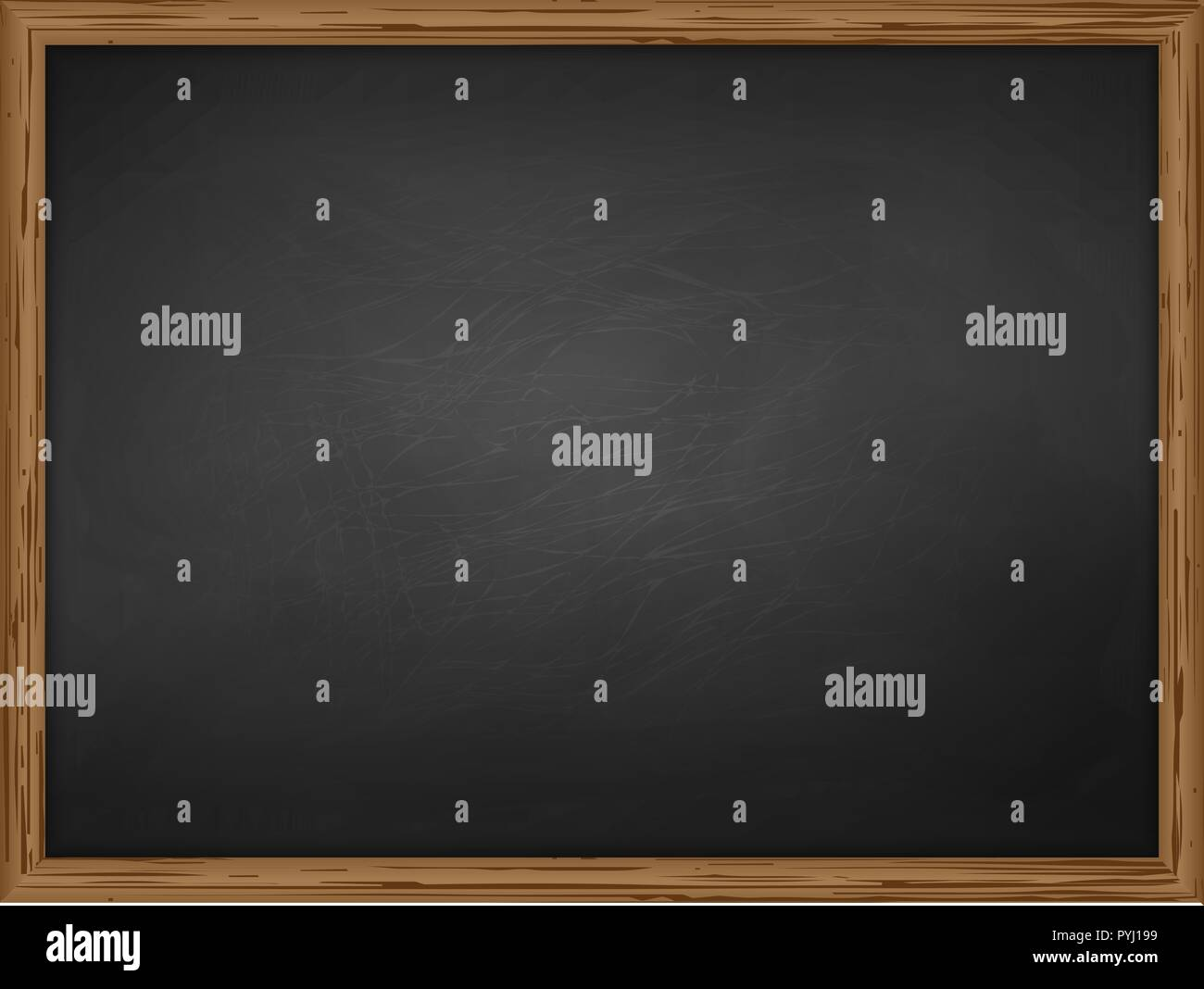 School Chalkboard Background Texture With Frame Vector Template For Your Design