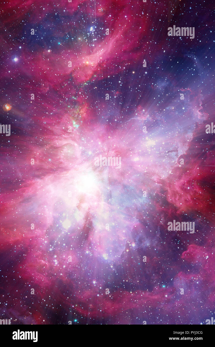 mystical space background image - Stock Image