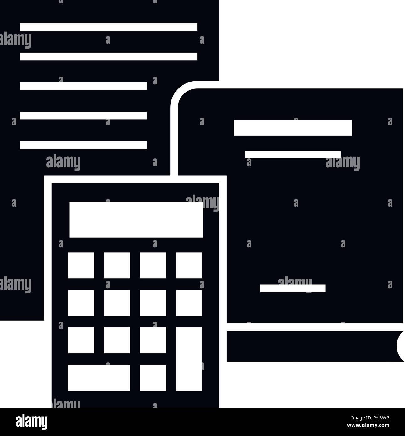 budget calculator icon simple style stock vector art illustration