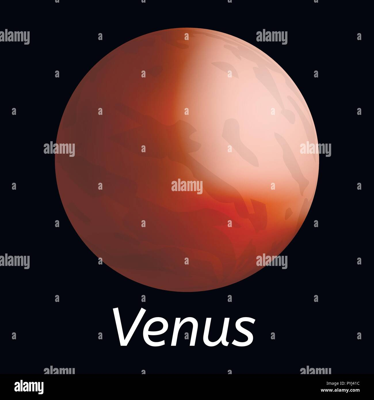 Venus planet icon, realistic style - Stock Image