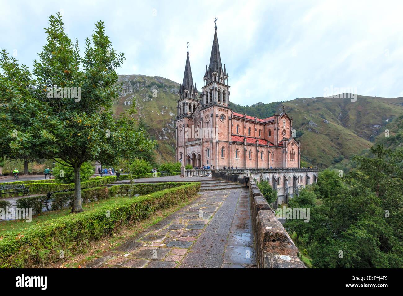 Covadonga, Picos de Europa, Asturias, Spain, Europe - Stock Image