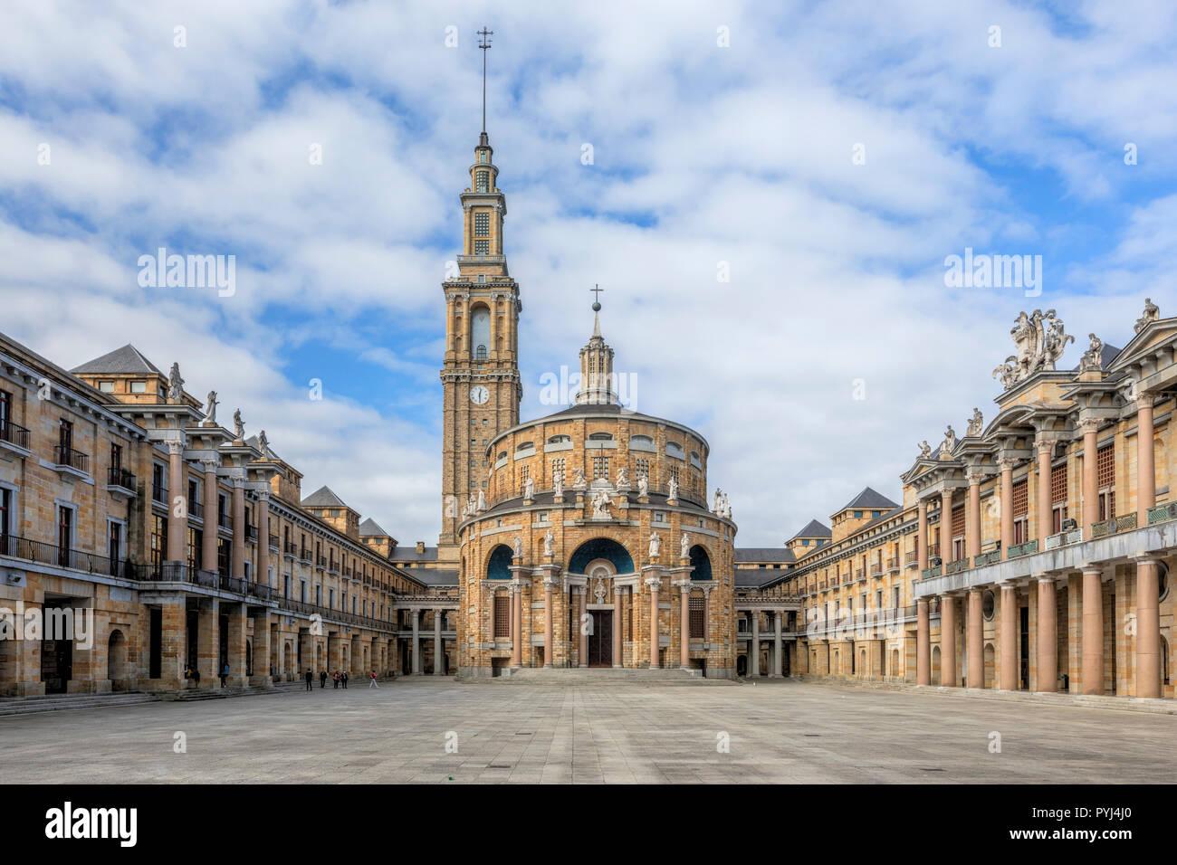 Gijon, Universidad Laboral de Gijon, Asturias, Spain, Europe - Stock Image