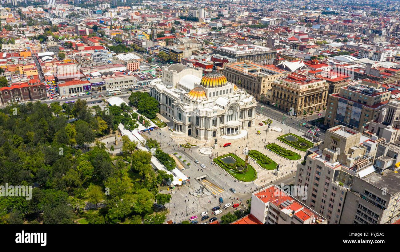 Palacio de Bellas Artes or the Palace of Fine Arts, Mexico City, Mexico - Stock Image
