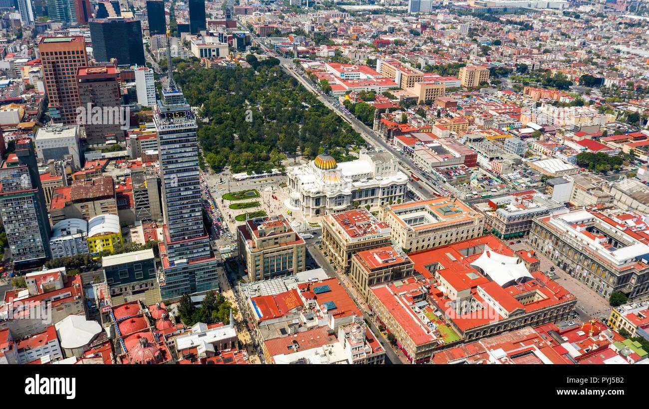 Alameda Central, Mexico City, Mexico - Stock Image