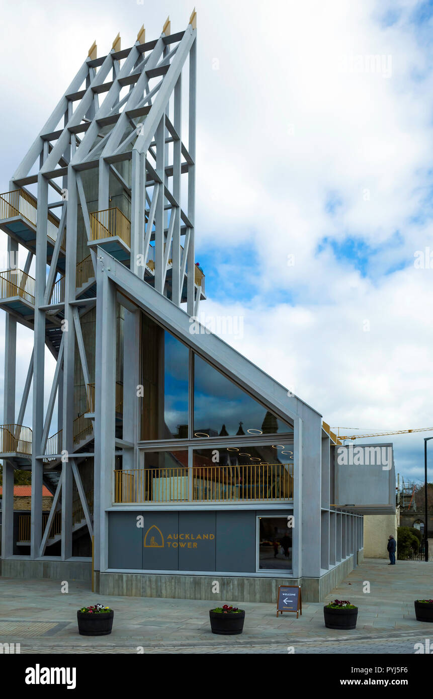 The Auckland Tower part of the Auckland regeneration project houses a museum and provides high level observation platforms to view work in progress Stock Photo