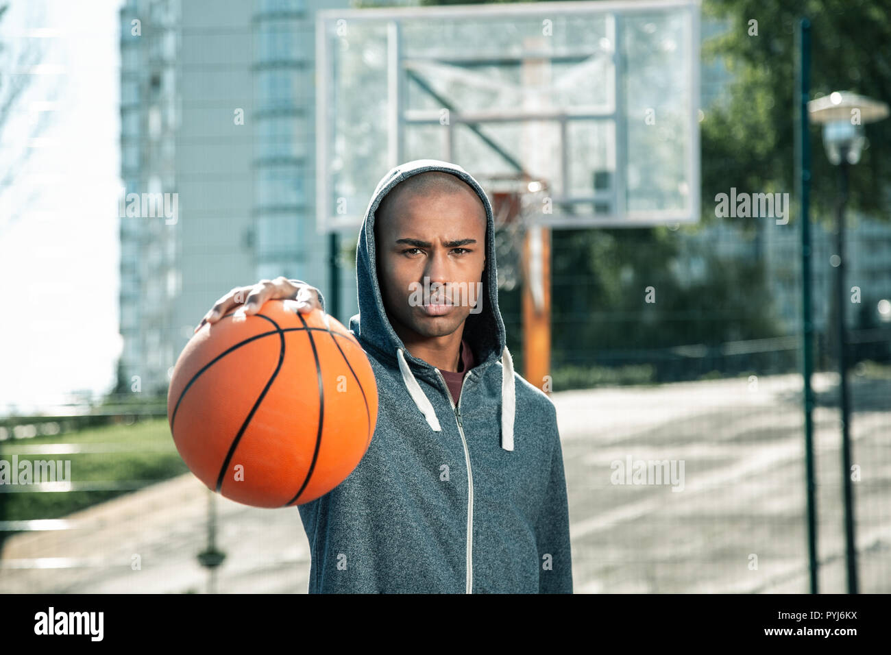 Nice handsome young man looking at you Stock Photo