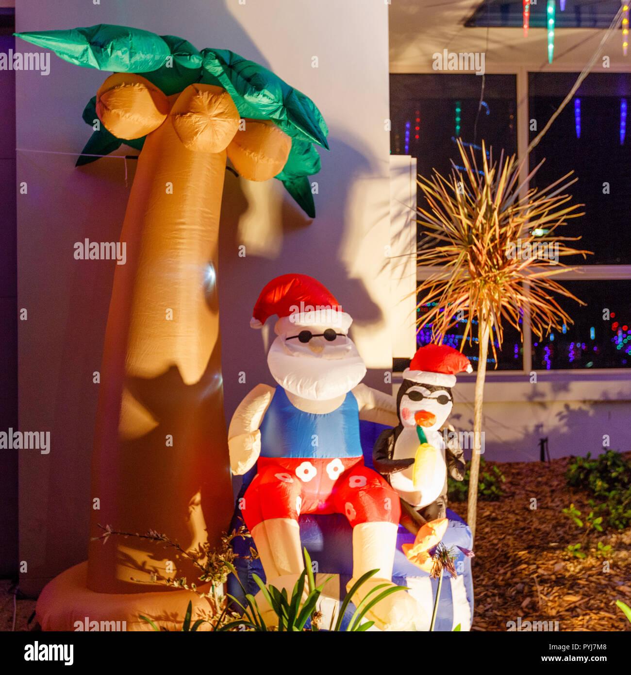 Palm Tree Christmas Lights Stock Photos & Palm Tree