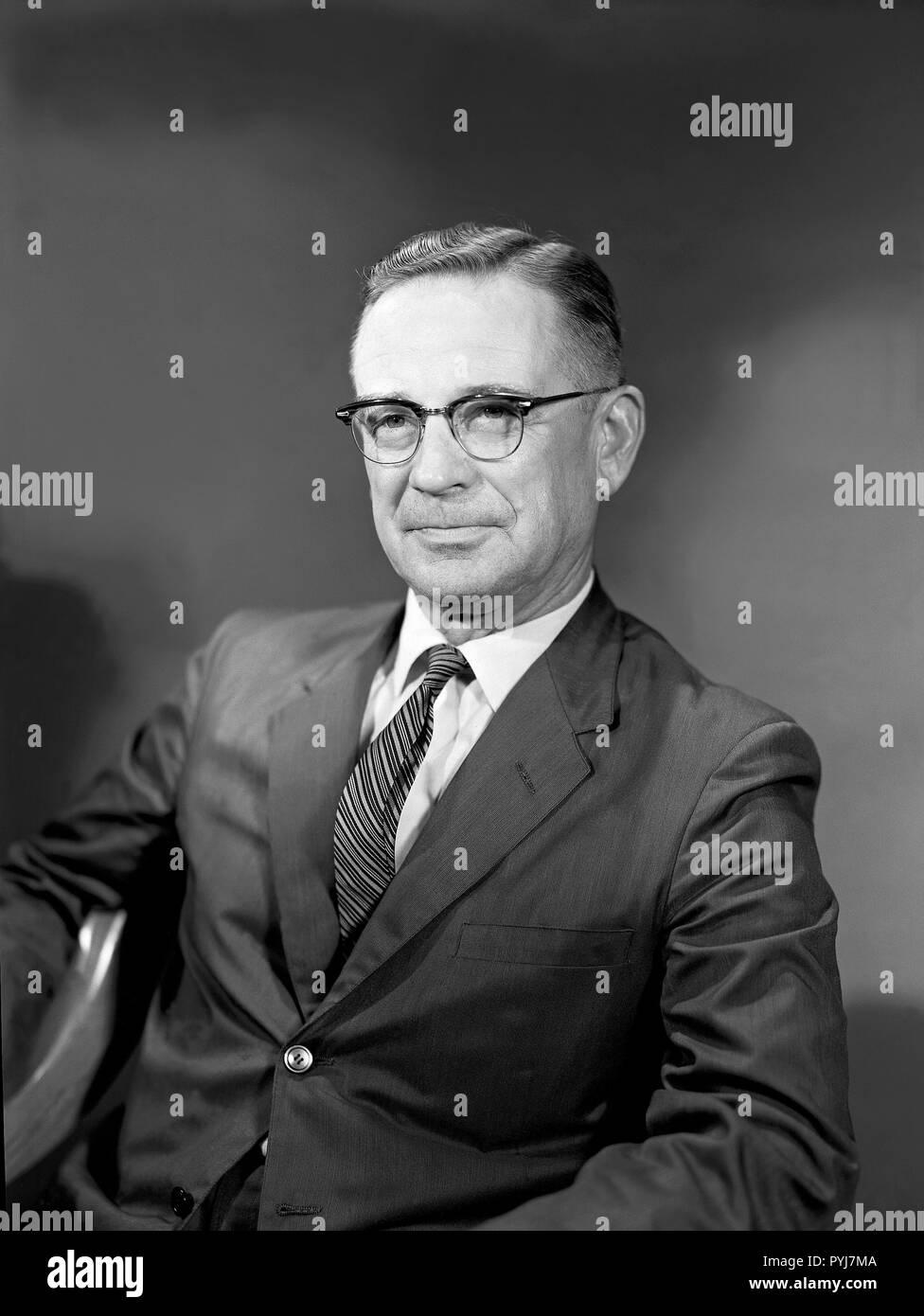 Portrait of Charles H. Zimmerman Associate Chief, Aero-Space Mechanics Division - Stock Image