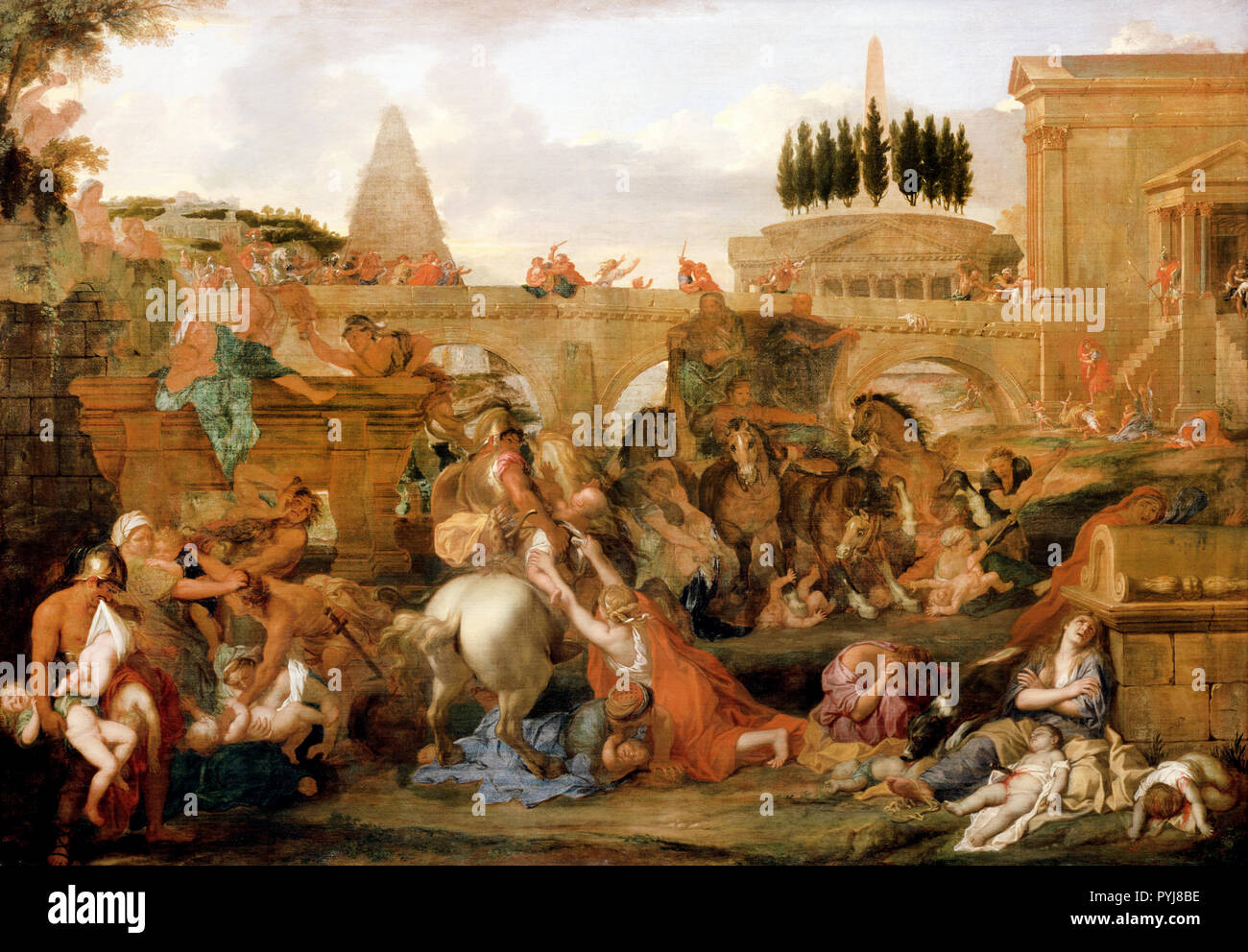 Charles Le Brun, The Massacre of the Innocents, Circa 1660, Oil on canvas, Dulwich Picture Gallery, London, England. Stock Photo