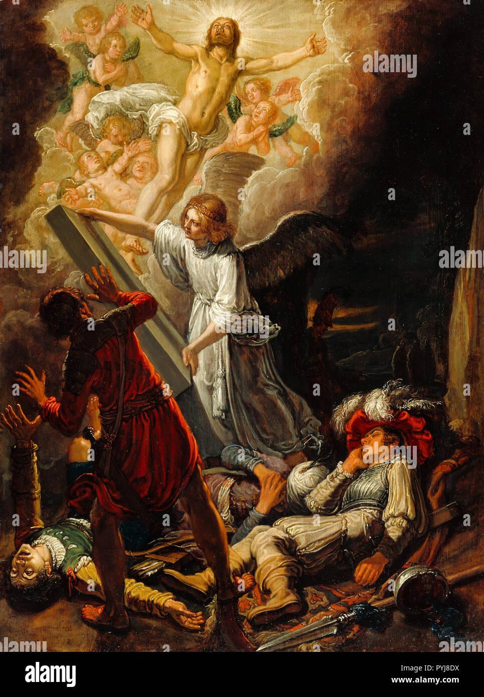 Pieter Lastman, The Resurrection 1612 Oil on panel, The J. Paul Getty Museum, Los Angeles, USA. - Stock Image