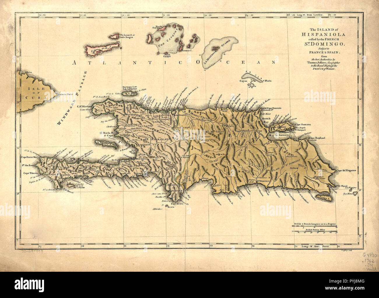 St Raphael France Map.Vintage Maps Antique Maps The Island Of Hispaniola Called By The