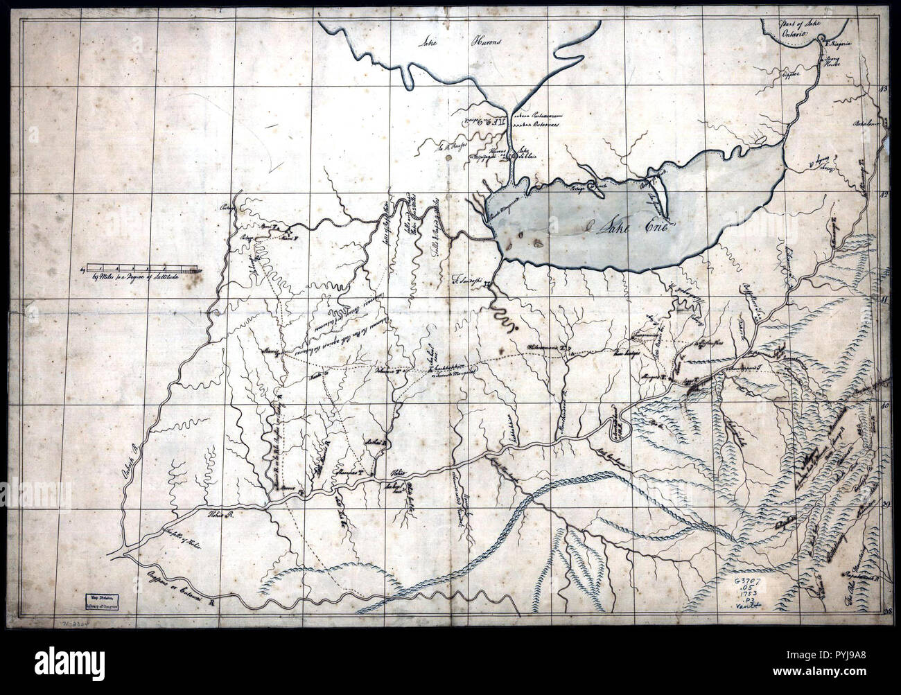 Antique Ohio Map.Vintage Maps Antique Maps A Trader S Map Of The Ohio Country