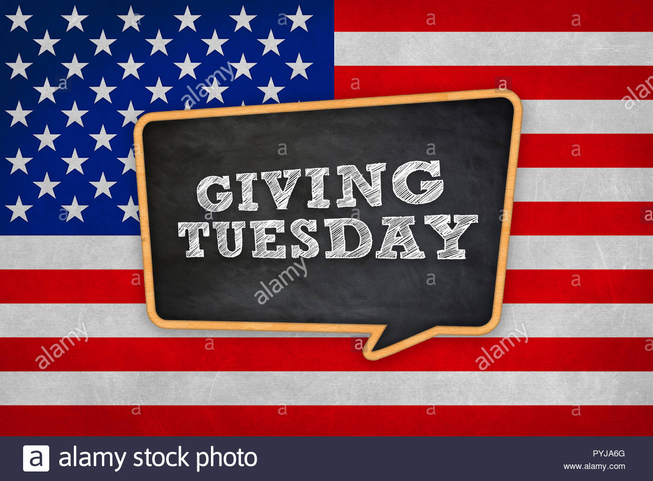 Giving Tuesday - Stock Image
