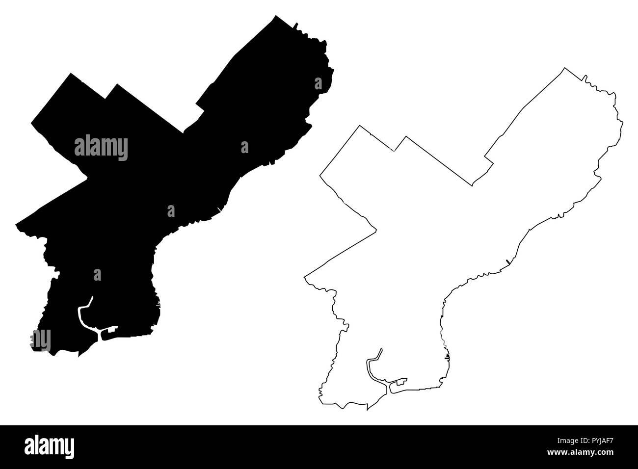 Philadelphia City ( United States cities, United States of America ...
