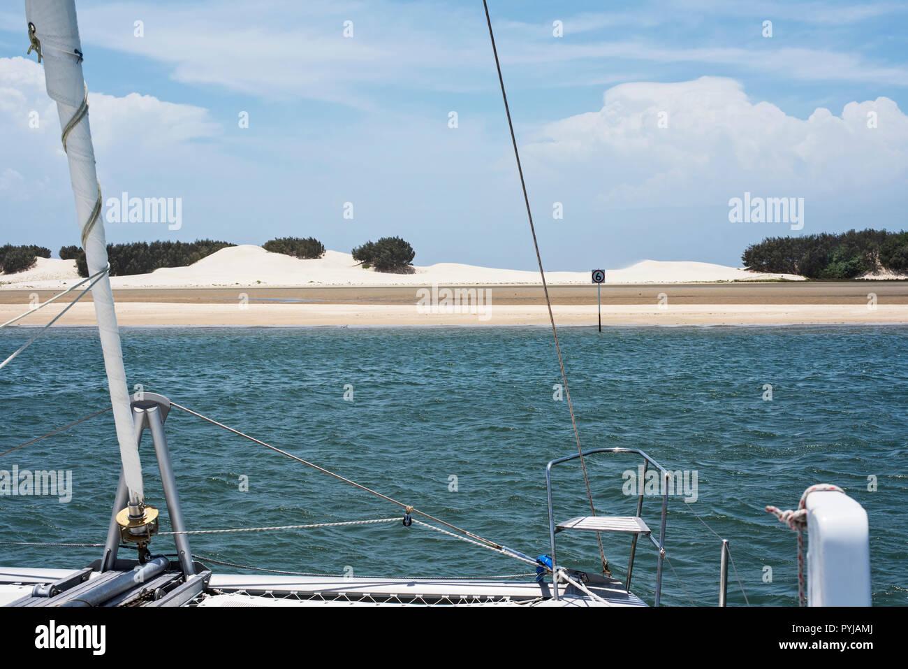 Beautiful Australian beach, Moreton Island, Queensland - Stock Image