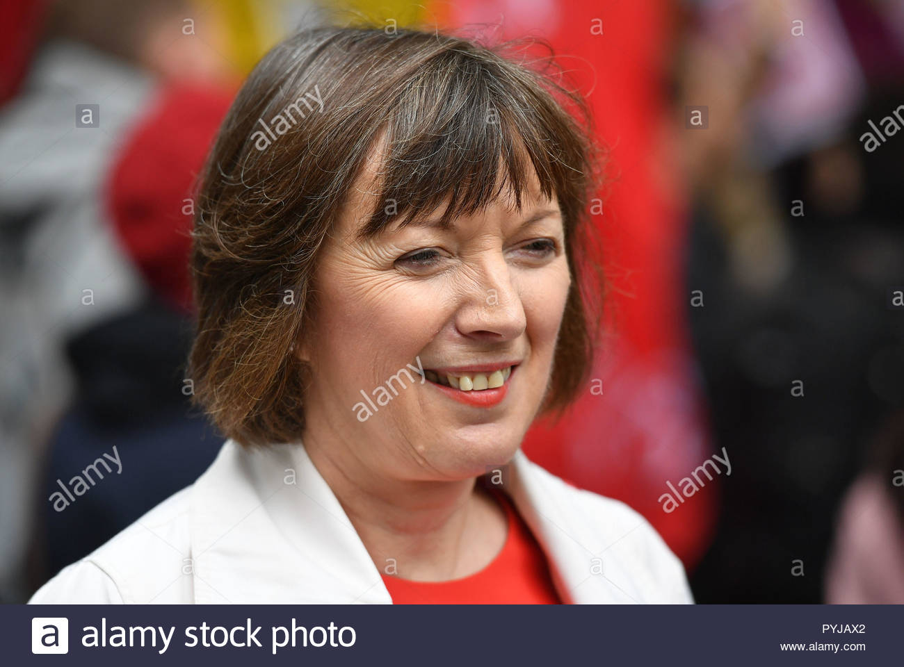 File photo dated 04/10/18 of TUC General Secretary Frances O'Grady, who admitted she has shopped at online retail giant Amazon, despite concerns over its workers. - Stock Image