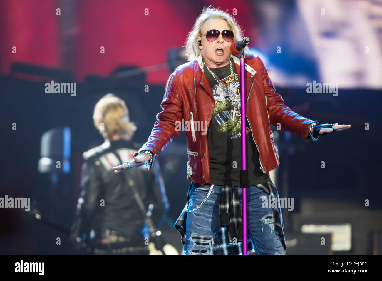 Guns N' Roses perform in the Not In This Lifetime Tour at Passeio Marítimo de Algés, in Lisbon, Portugal. - Stock Image