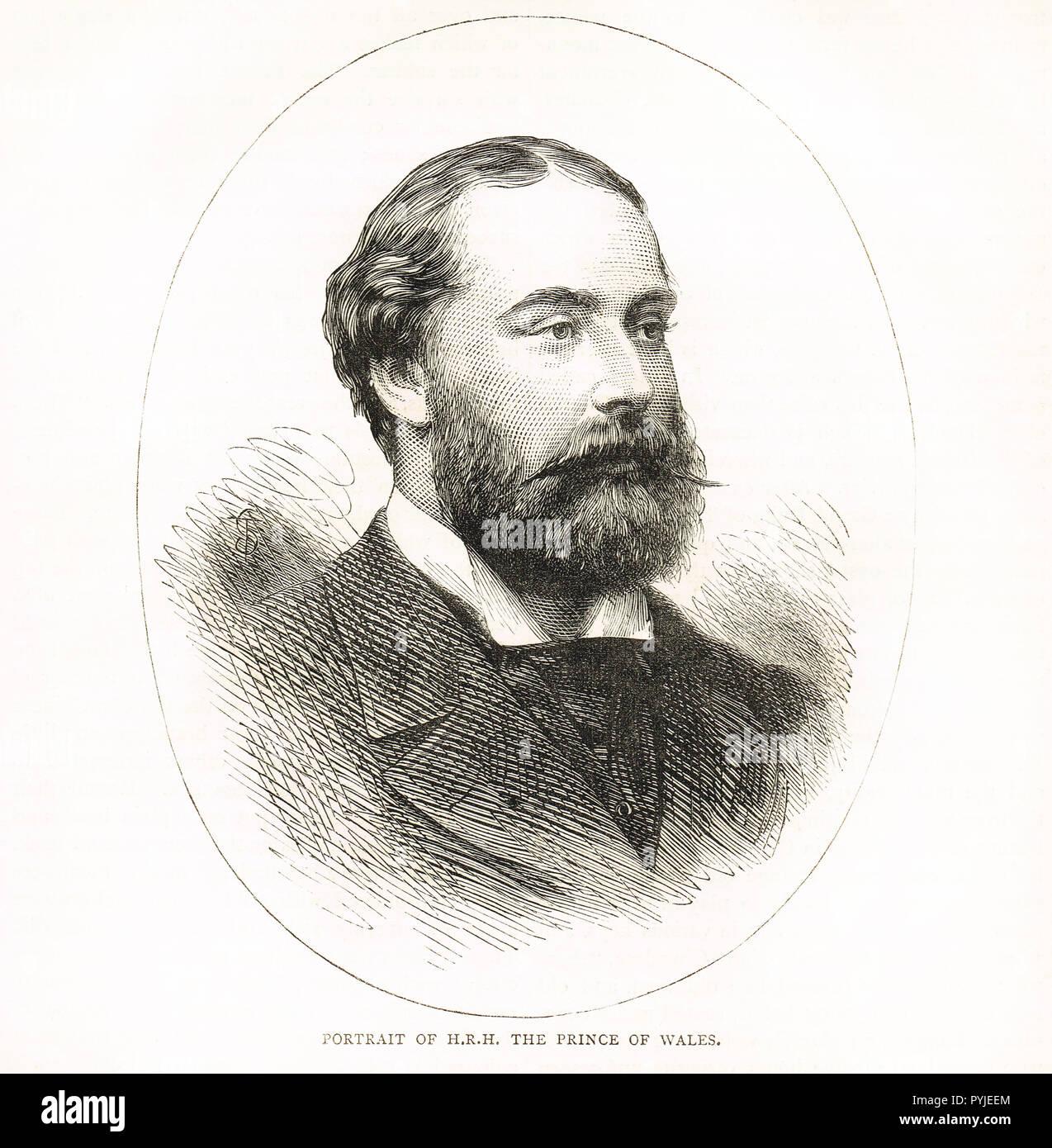 Prince Albert Edward, Prince of Wales, future King Edward VII, circa 1875 - Stock Image