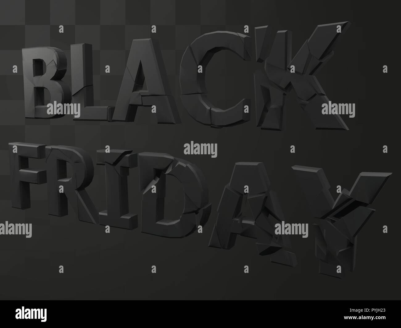 vector illustration of exploding black friday text - Stock Vector