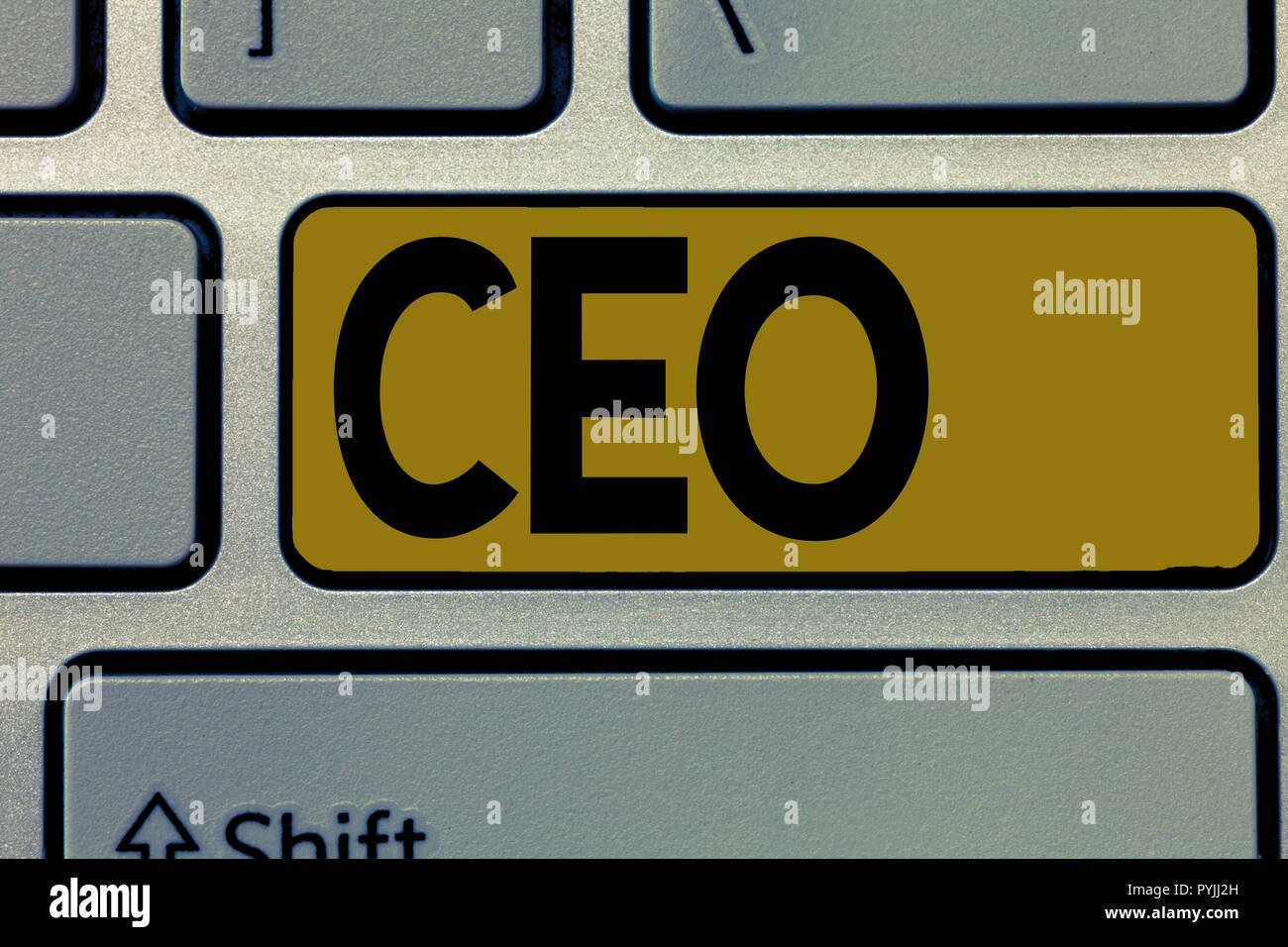 Handwriting text Ceo. Concept meaning Main person responsible for managing a company Operating officer. - Stock Image