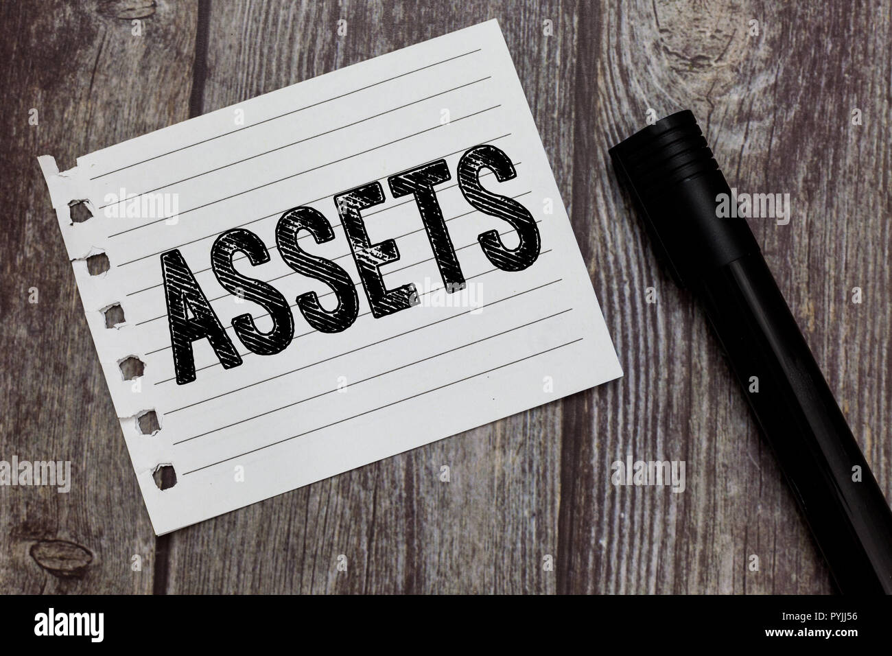 Conceptual hand writing showing Assets. Business photo text item of property owned by person or company regarded as having value. - Stock Image
