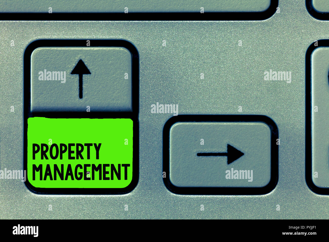 Word writing text Property Management. Business concept for Overseeing of Real Estate Preserved value of Facility. - Stock Image