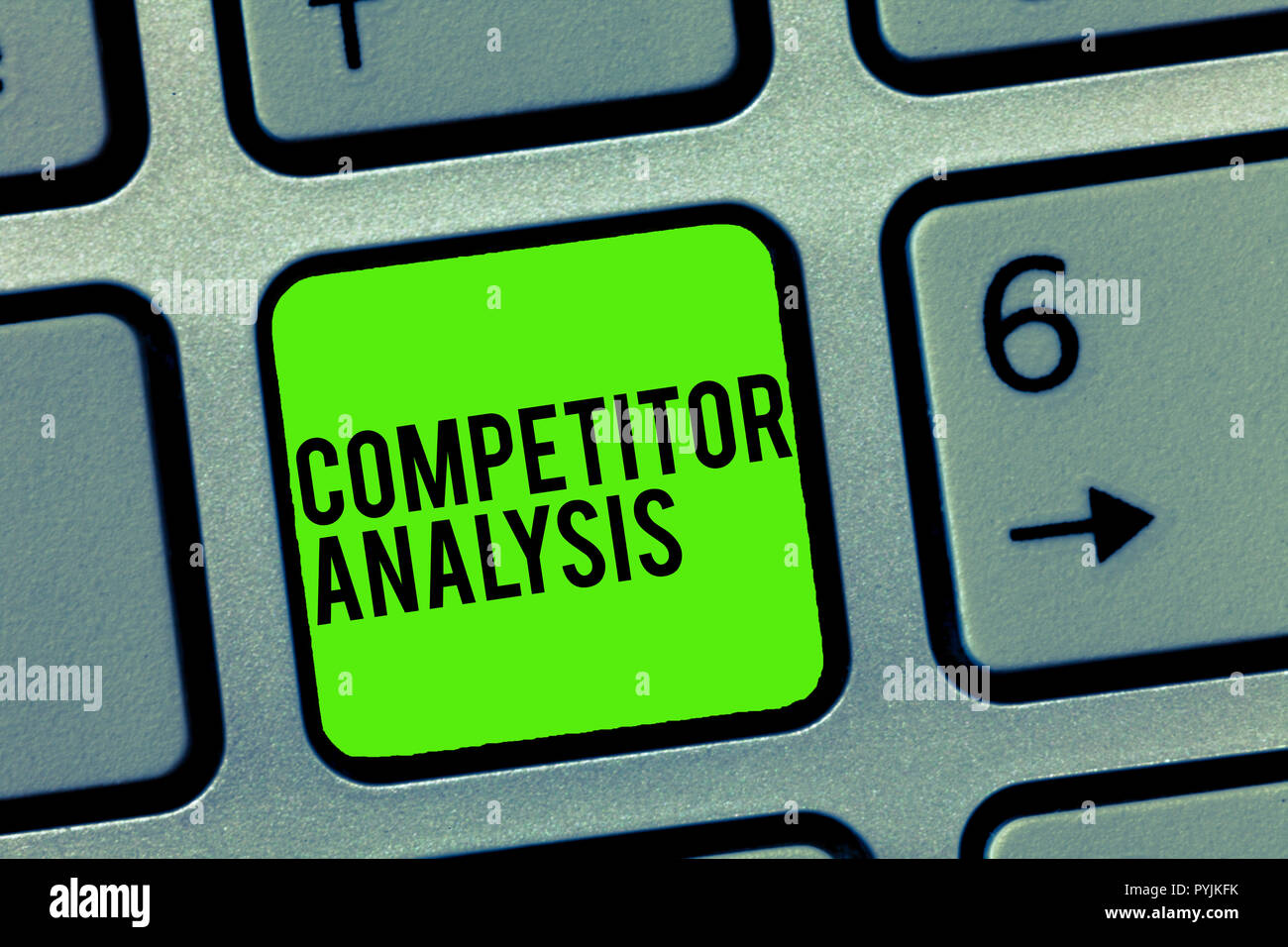 Text sign showing Competitor Analysis. Conceptual photo Determine the Strength Weakness of Competitive Market. - Stock Image