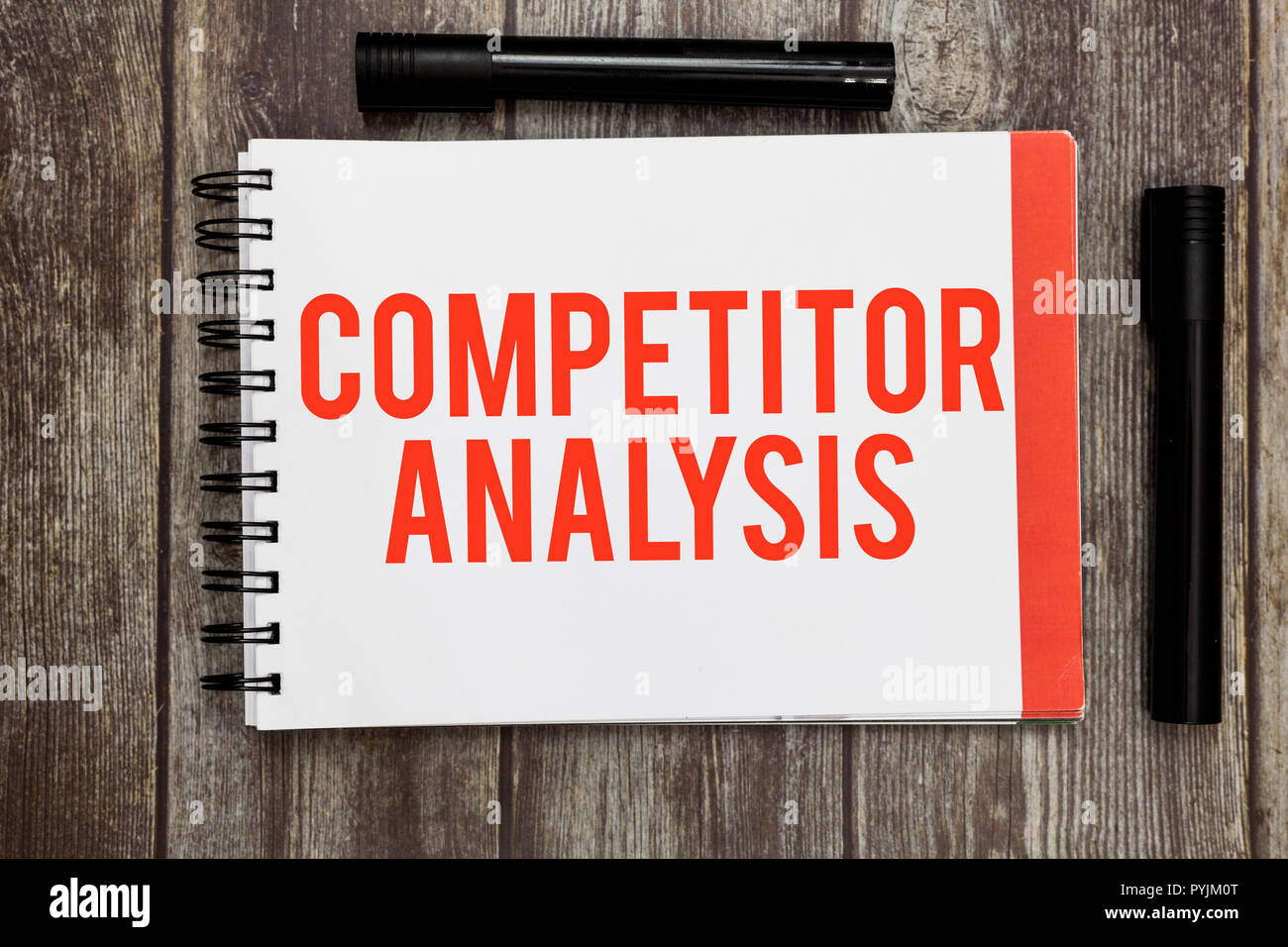 Word writing text Competitor Analysis. Business concept for Determine the Strength Weakness of Competitive Market. - Stock Image