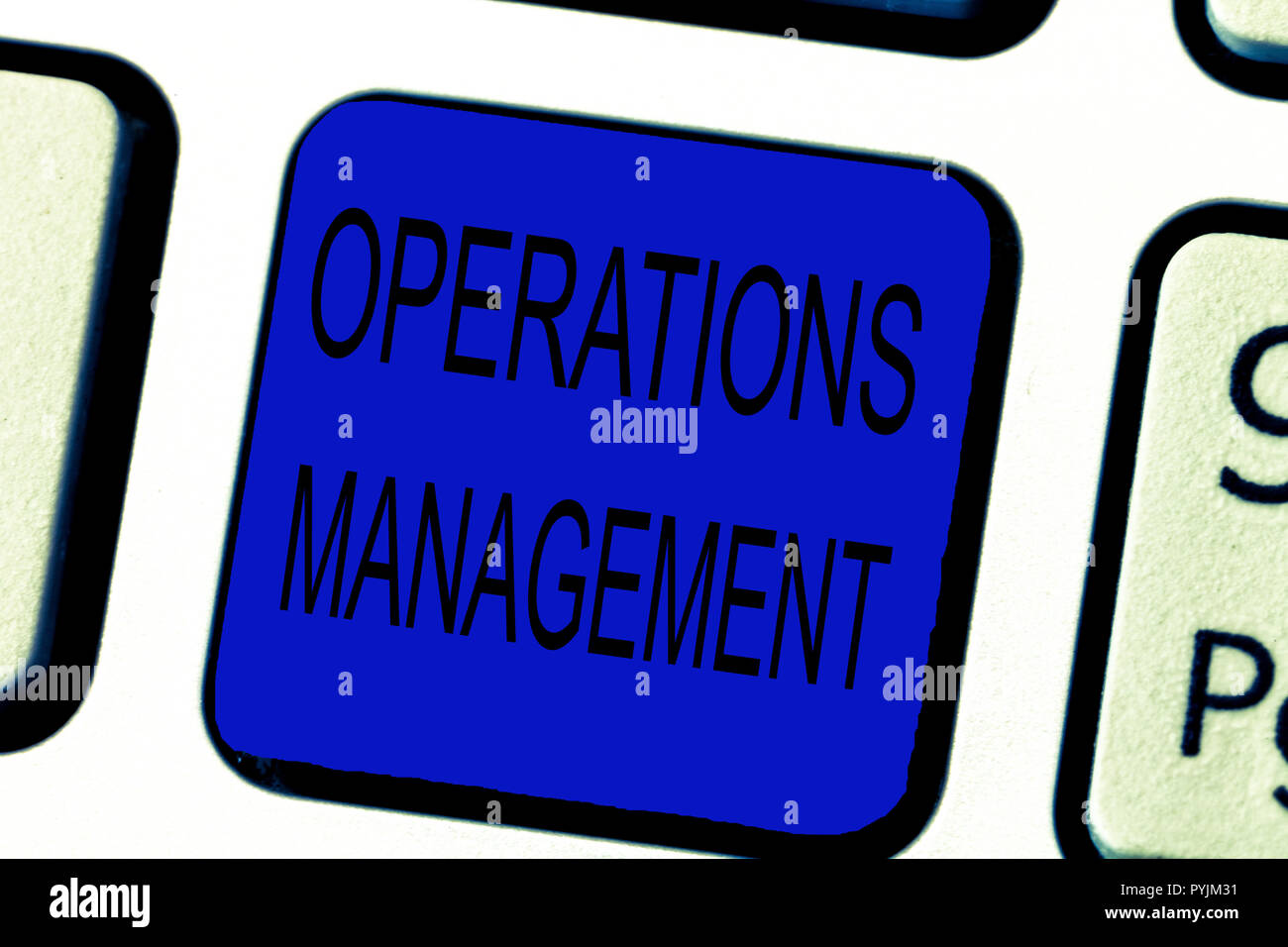 Text sign showing Operations Management. Conceptual photo ensure Inputs to Output the Production and Provision. - Stock Image