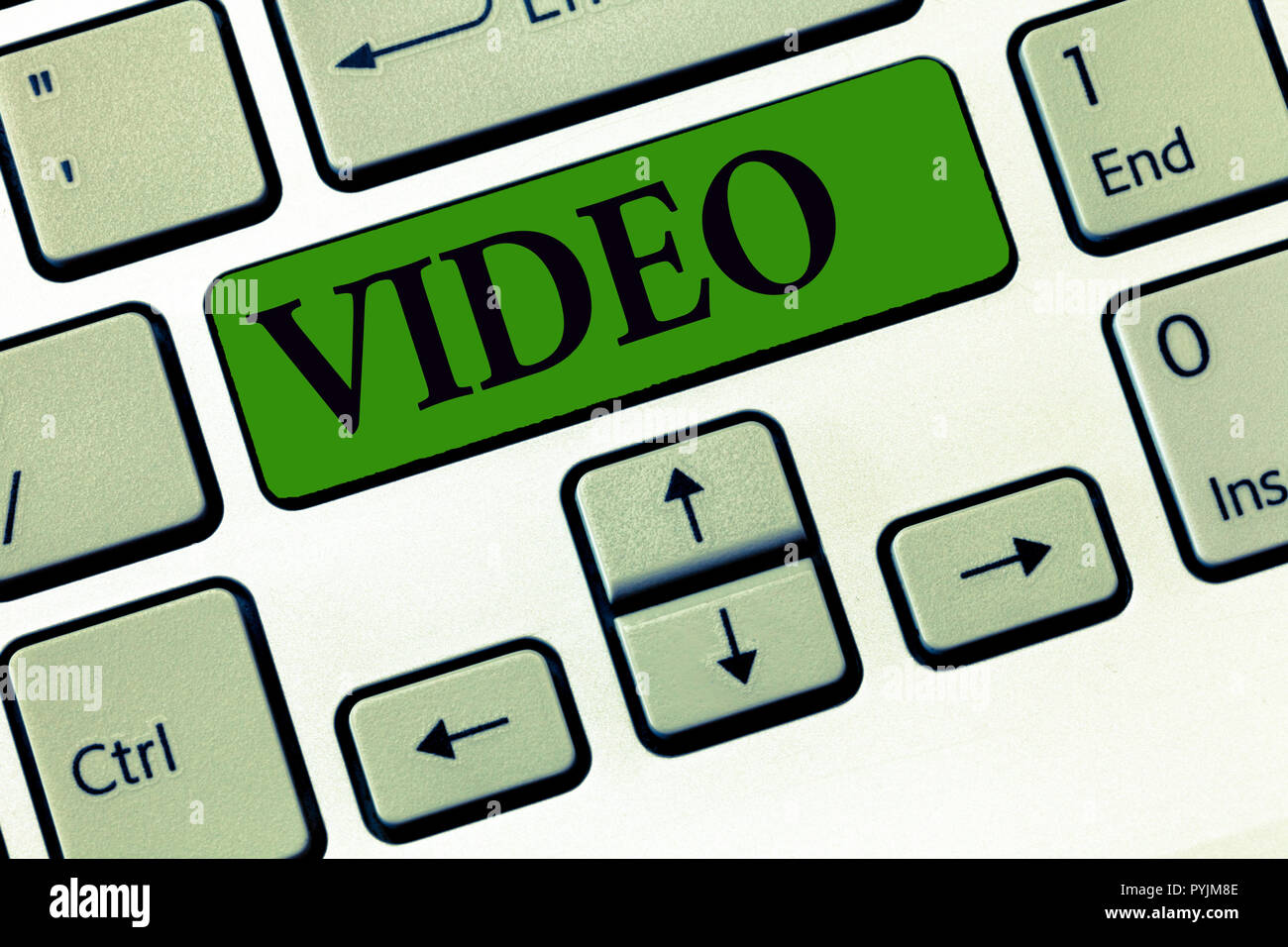 Conceptual hand writing showing Video. Business photo showcasing recording reproducing or broadcasting of moving visual images. - Stock Image