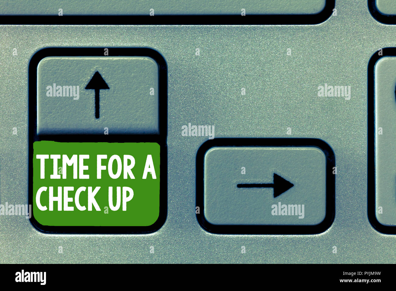 Text sign showing Time For A Check Up. Conceptual photo a Thorough Examination have a Look on something someone. - Stock Image