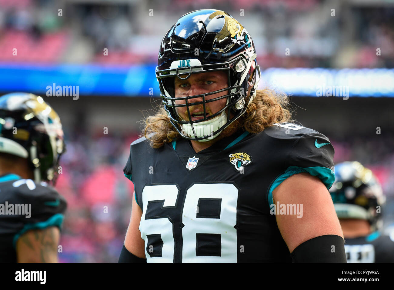 new style edf9f d1ea7 London, UK. 28 October 2018.Jaguars offensive guard Andrew ...