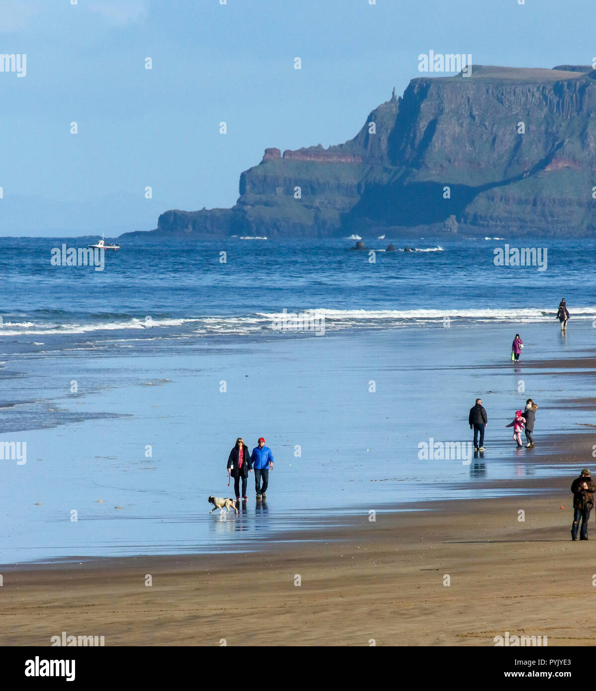 Portrush County Antrim Northern Ireland  Uk Weather A Glorious Day Despite The Cold On Northern Irelands North West Coast
